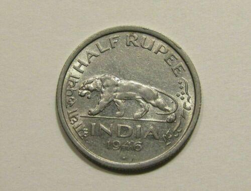 India 1946 1/2 Rupee unc Coin