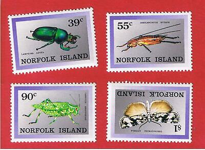 Norfolk Island #448-451  MNH OG  Insects Free S/H