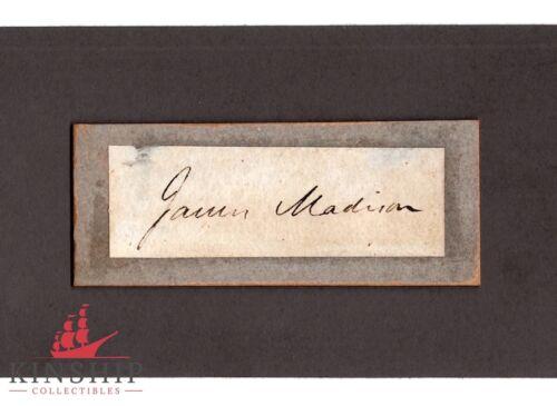 President James Madison signed cut JSA LOA