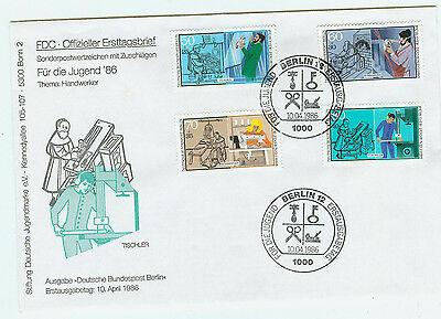 Berlin FDC Ersttagsbrief 1986 Handwerk Mi.Nr.754-57