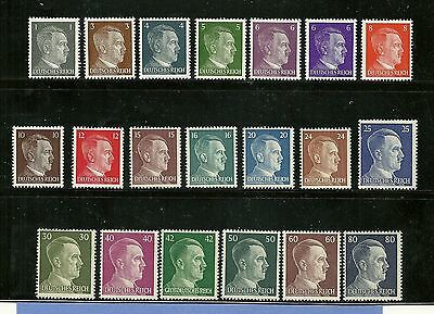 Stamp Mint set / Third Reich / Complete Adolph Hitler series / All stamps MNH