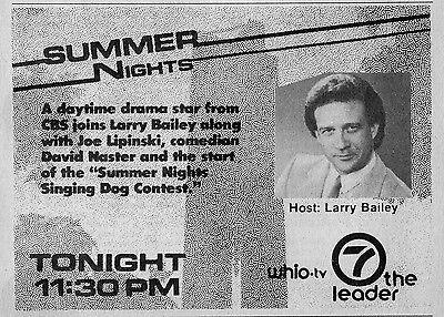 1985 Tv Ad Larry Bailey Hosts Summer Nights Singing Dog Contest Whio Dayton Ohio