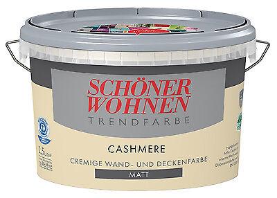 Schöner Wohnen Trendfarbe Cashmere Matt 2,5 L Wandfarbe NEUu0026OVP Neuware