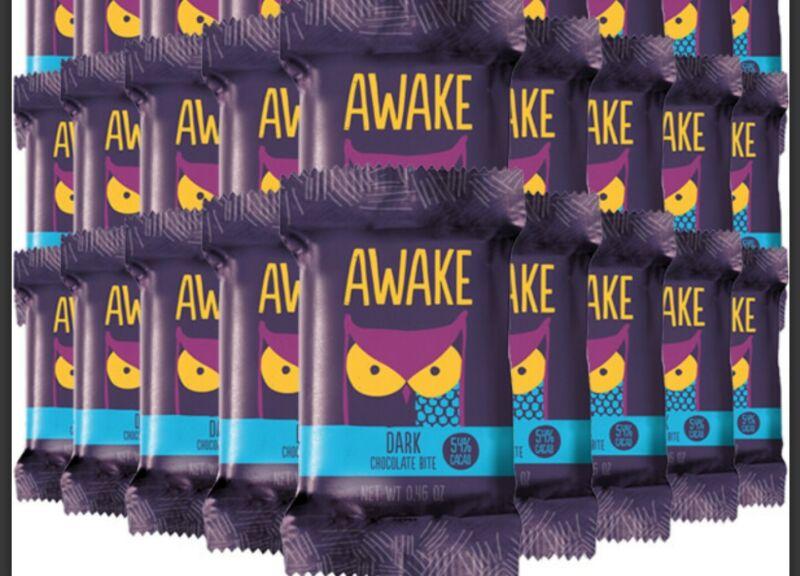 Awake Caffeinated Chocolate Energy Bites, Dark Chocolate (25 single packs)