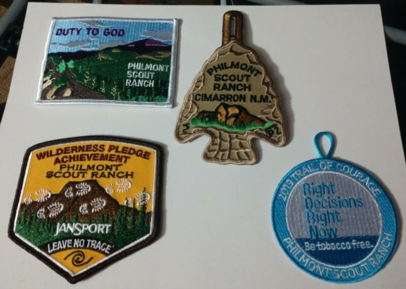 2019 Philmont Arrowhead, Duty To God, Leave No Trace Trail of Courage Set