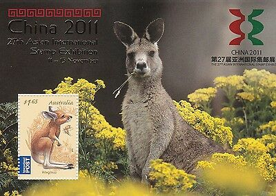 2011 Australia  China Wuxi Stamp Exhibition Gold Overprint Ms Sg 3384 Muh
