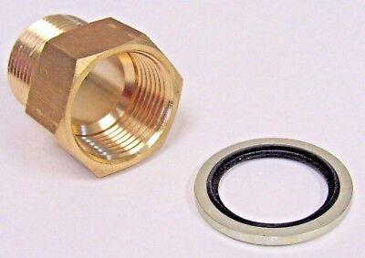 ProPlumber Brass Adapte 1//2-in male NPT x 1//2-in female NPT