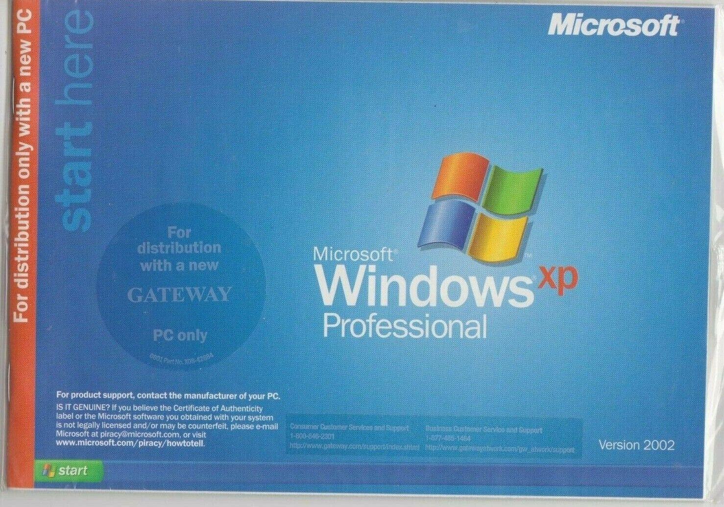 Gateway Operating System Windows XP Professional CD 7509595 V1.0 Sealed