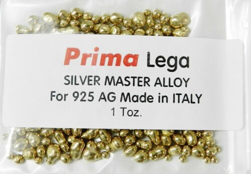 Casting Grain Master Alloy for Silver Ag 925 Alloy Sterling Silver 1Toz. ITALY