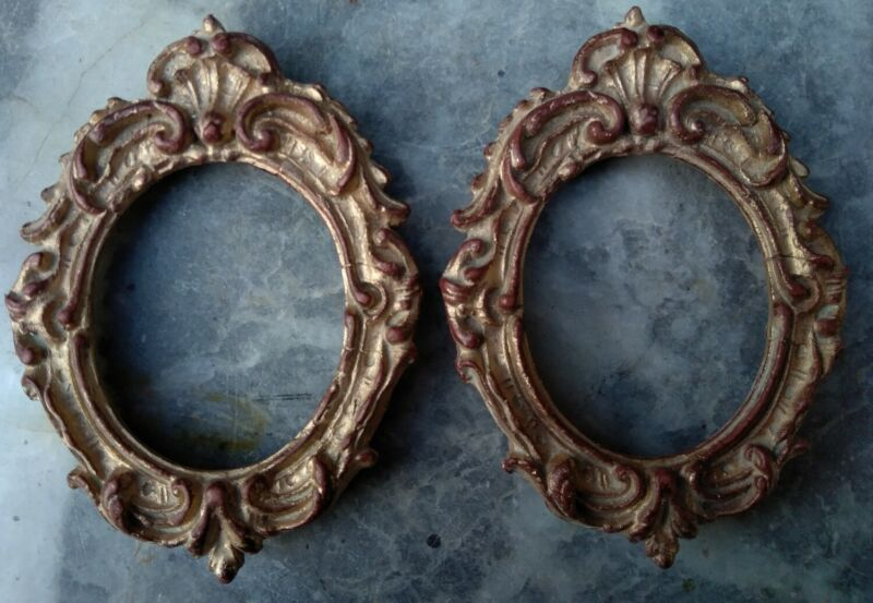 A Pair of Rococo style gilt finish Picture Frames. Good condition