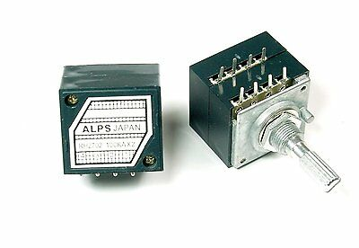 ALPS Dual Potentiometer 100K Ohms For Amplifier Preamp Headphones AMP RH2702-100