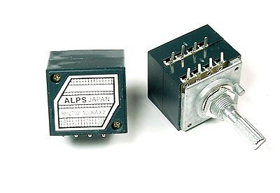 Dual Potentiometer 100k Ohms For Amplifier Preamp Headphones Same As Alps