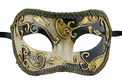 Mask from Venice Colombine Black Golden Costume-Ball Masquerade - 1937 -V83B