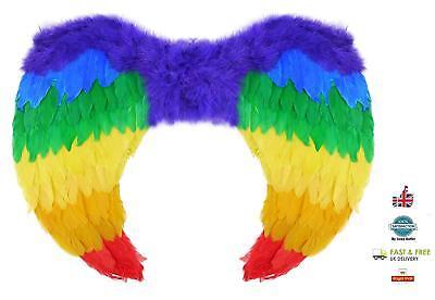 Rainbow Federflügel Vogel Papagei Halloween Kostüm - Vögel Flügel Kostüm