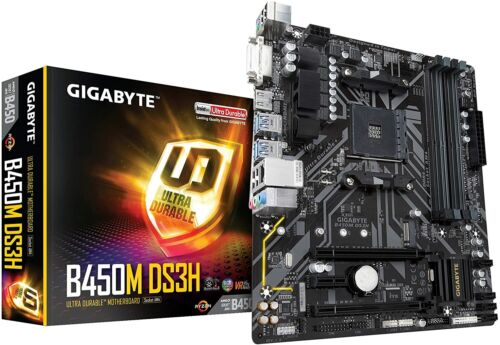 GIGABYTE B450M DS3H AMD Ryzen AM4/Micro ATX/M2/HMDI/DVI/USB 3.1/DDR4/Motherboard