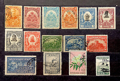 HAITI Stamps 15 Different Mix Conditions Hinged (1697)