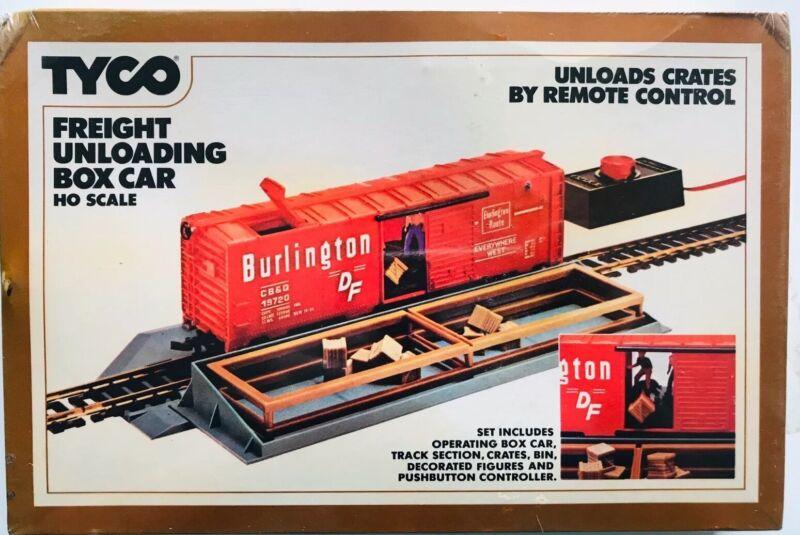 TYCO FREIGHT UNLOADING BOX CAR Remote Control BURLINGTON # 930 NEW SEALED!