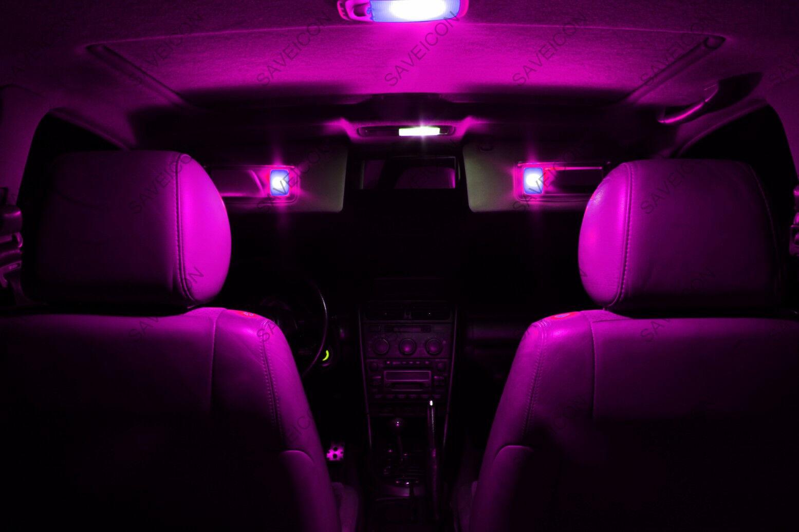 13 x pink purple led interior light package for 2012 2013 vw passat b7 picclick. Black Bedroom Furniture Sets. Home Design Ideas