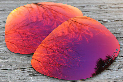Polarized Purple Red Mirrored Sunglass Lenses for Oakley Dispatch 2 - Grey Tint - Mirrored Lenses