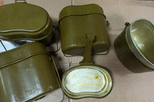 Original Soviet USSR Russian Army Military Soldier Cooking Pot Bowl Mess Kit