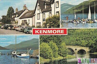 Kenmore multiview (Loch Tay,Ben Lawers+) - vintage Scotland postcard