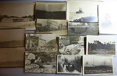 14 seltene Fotoaufnahmen WK I - US - Minenräumer und andere Motive - Rarität