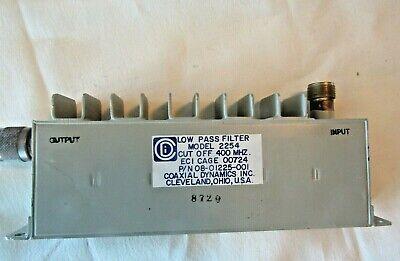 Coaxial Dynamics Low Pass Rf Filter 400mhz Cut Off - Model 2254