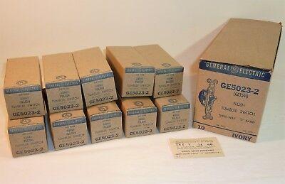 10 Vintage Ivory Ge General Electric Three Way Flush Tumbler Switches Ge5023-2
