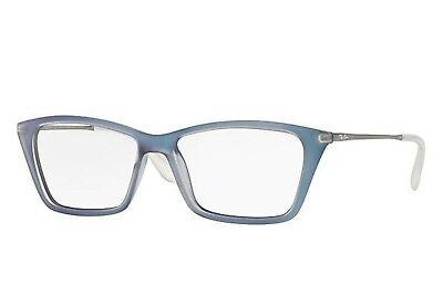 NEW Genuine Ray-Ban RB7022-5496 Azure Blue & Gunmetal Shirley Rx Eyeglass Frames