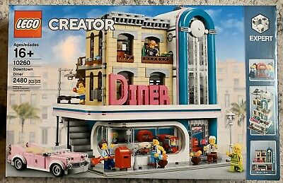 LEGO 10260 Creator Expert Downtown Diner Modular Building, Brand New Sealed