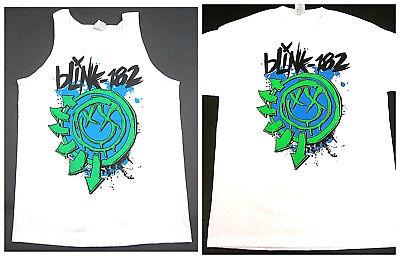 BLINK 182 Tank Top T-shirt SD CALI SoCal Punk Rock Mens Adult S - 2XL White New - Adult Punk