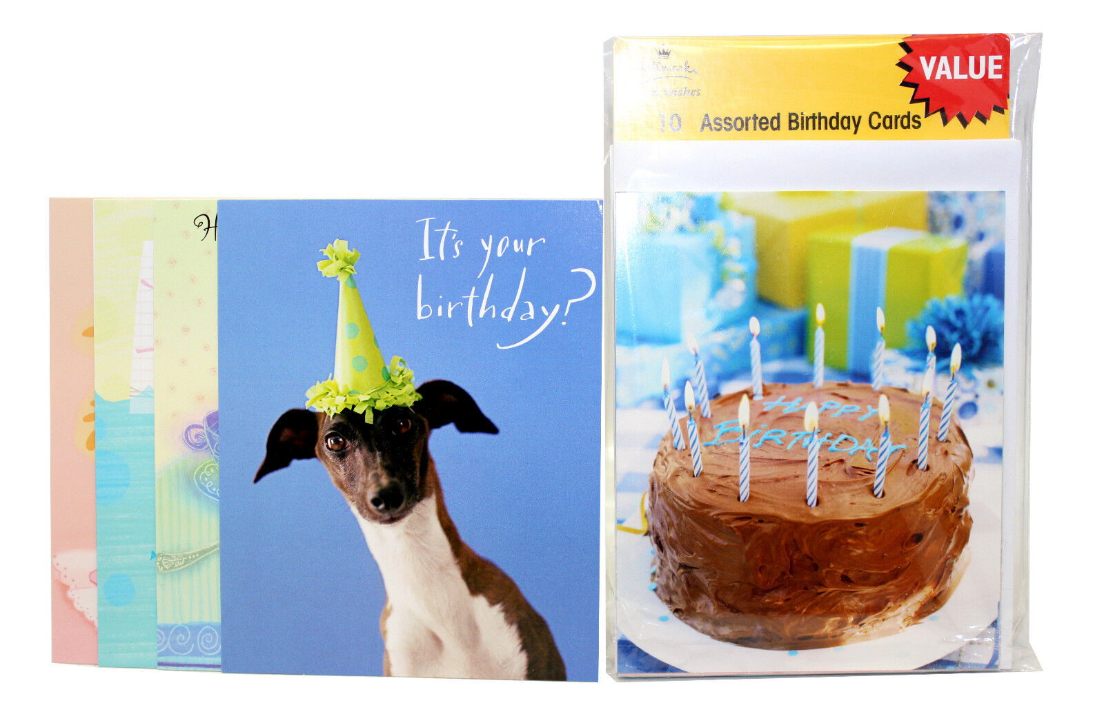 10000x Hallmark Assorted Happy Birthday Greeting Cards Wish Huge