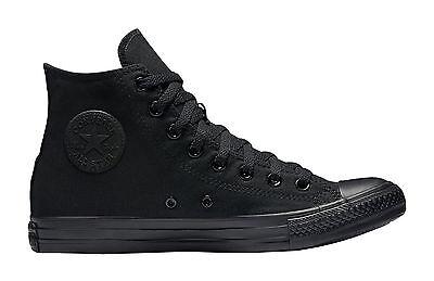 (Converse All Star Chuck Taylor Shoes All Black Canvas Hi Top Men Sneakers M3310)