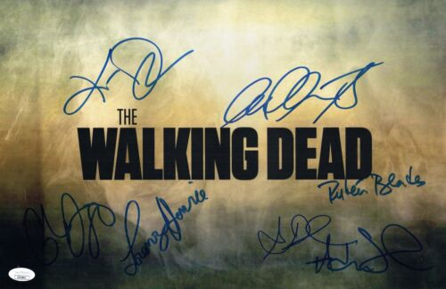 Cliff Curtis FEAR THE WALKING DEAD Cast X7 Signed 11X17 Autograph JSA COA Cert