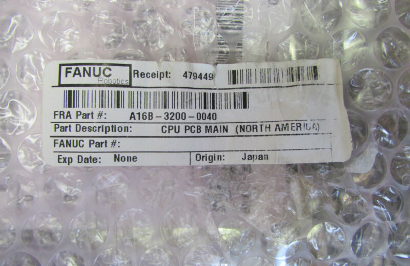GE FANUC A16B 3200 0040 Main CPU Board w/ A20B 2902 0210 1 MB Memory Module