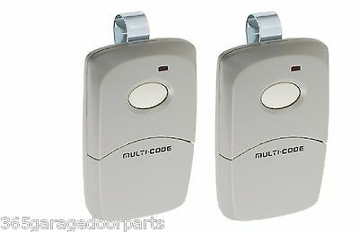 2-Pack Multi-Code 3089 MultiCode 308911 Linear MCS308911 Garage Gate Remote 300m