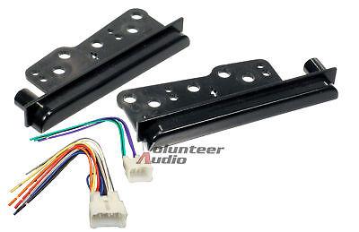 2-Din Car Stereo Radio Dash Kit Installation Mounting Trim W/ Wiring Harness