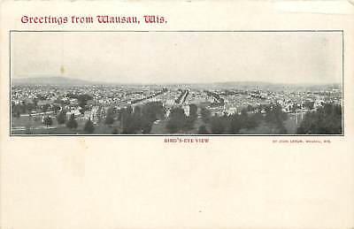 Wisconsin Chick - Wisconsin, WI, Wausau, Greetings, Bird's-Eye View UDB (pre-1907) Postcard