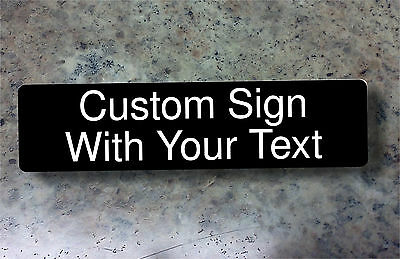 Custom Sign Custom Engraved With Your Text Plastic Sign For Home Or Business