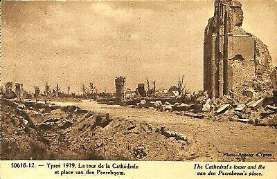 CPA - Belgique - Ieper - Ypres - La tour de la cathédrale