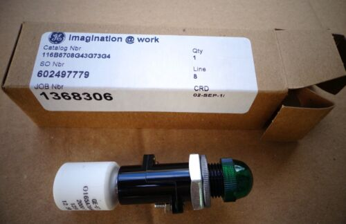 GE 116B6708G43G73G4 GREEN INDICATOR LAMP, NEW!
