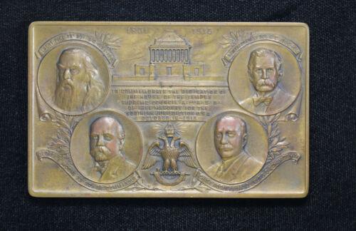 1915 Scottish Rite House of the Temple Dedication Medallion Freemason