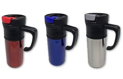New 16OZ Stainless Steel Coffee Cup with Handle Insulated Thermos Travel Mug 16 Ounce Steel Mug