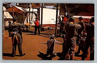 Dallas Fort Worth Texas Yankee Spy Firing Squad Six Flags Postcard 1960s (Yankee Spy)