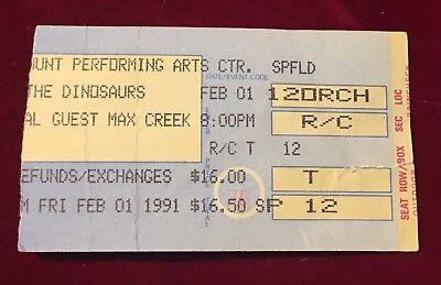 The Dinosaurs W/ Max Creek Ticket Stub 2/1/1991 Paramount Springfield MA
