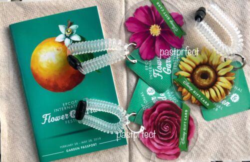 Disney 3 Gift Card Epcot Flower Garden Festival Wristlet $0 Value WDW 50 Yr 2021