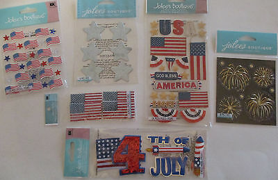 Scrapbooking Stickers Jolee's Boutique Lot 4TH OF JULY FIREWORKS Patriotic  for sale  Leesburg