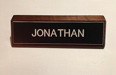 Solid Wood Jonathan Name Plate For Desk Some Light Scratching See Pics
