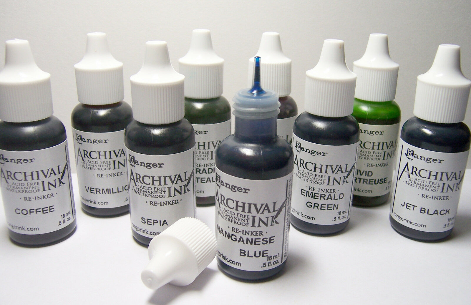 RANGER Archival Reinker .5oz Refill Ink for Stamp Pads Select from 55 colors