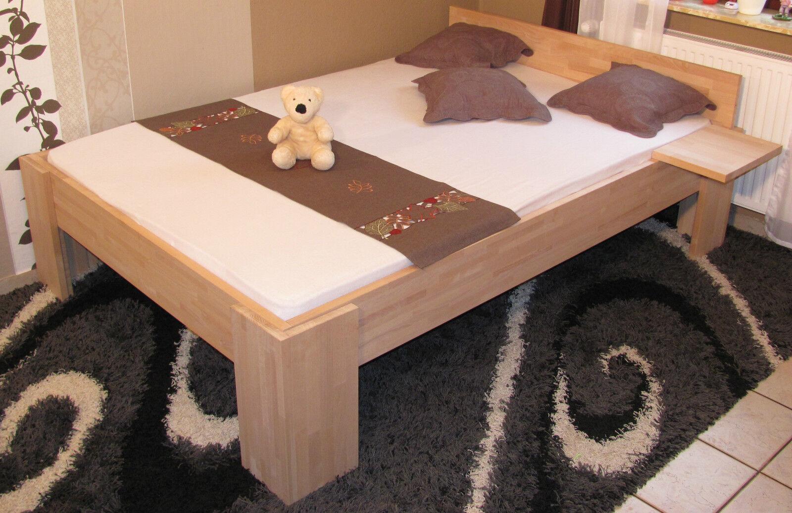 massivholzbett holzbett 140x200 fu i doppelbett massiv. Black Bedroom Furniture Sets. Home Design Ideas